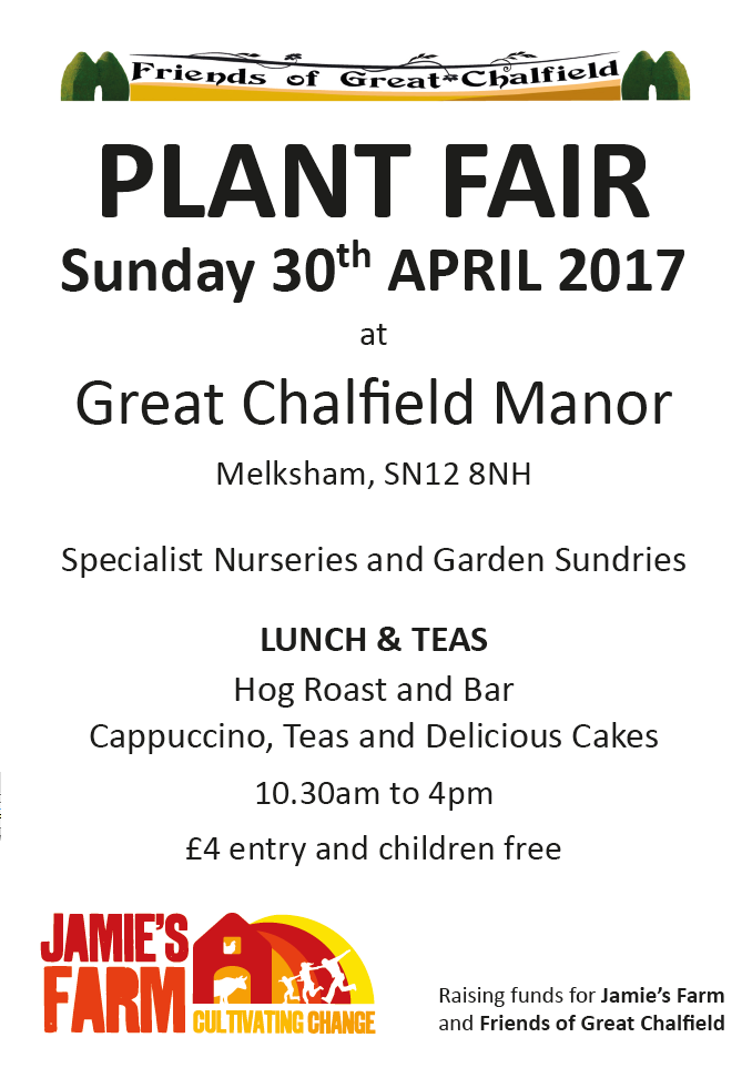 Plant Fair 2017 in aid of Jamie's Farm - Sundday 30th April 2017